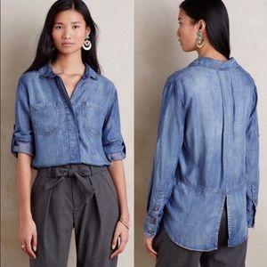 Cloth & Stone Split Tail Chambray Shirt